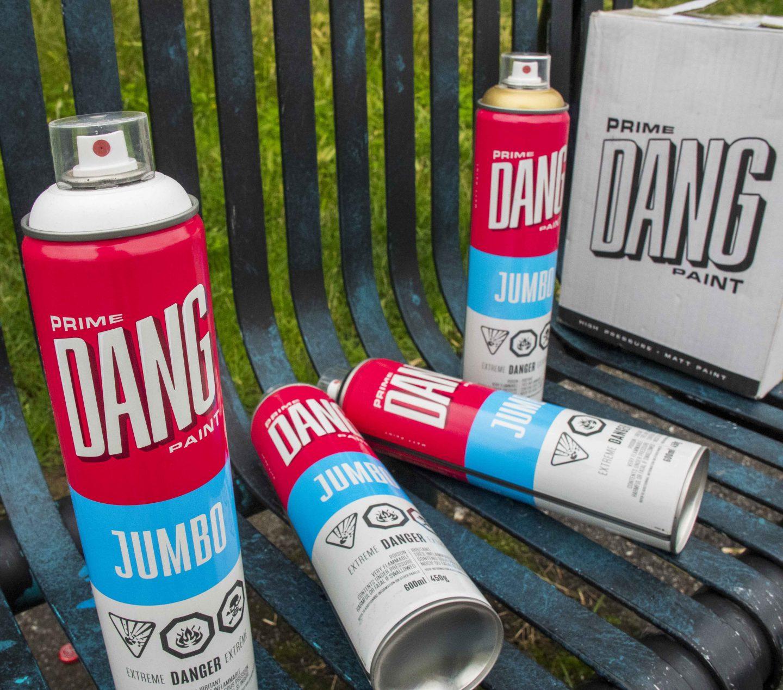 Graffiti Video: DANG JUMBO 600ml Spray Paint